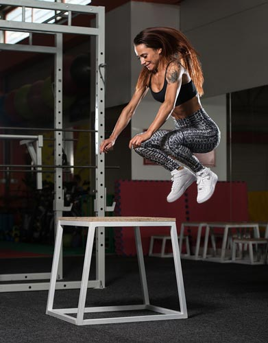 An example of a plyometric exercise.
