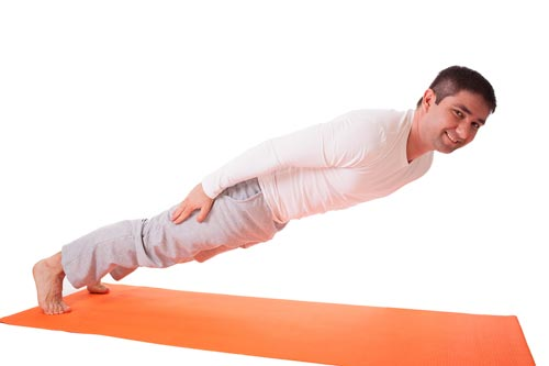 If we jump back to plank with no arms, will this protect our shoulders? :)