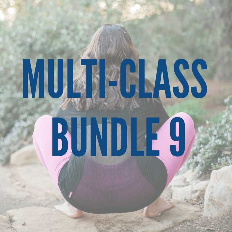 Multi-Class Bundle 9:   -Chaturanga Prep Practice -Wrist Conditioning for Yogis 2 -Recruit the Glutes -Strong, Mobile Shoulders