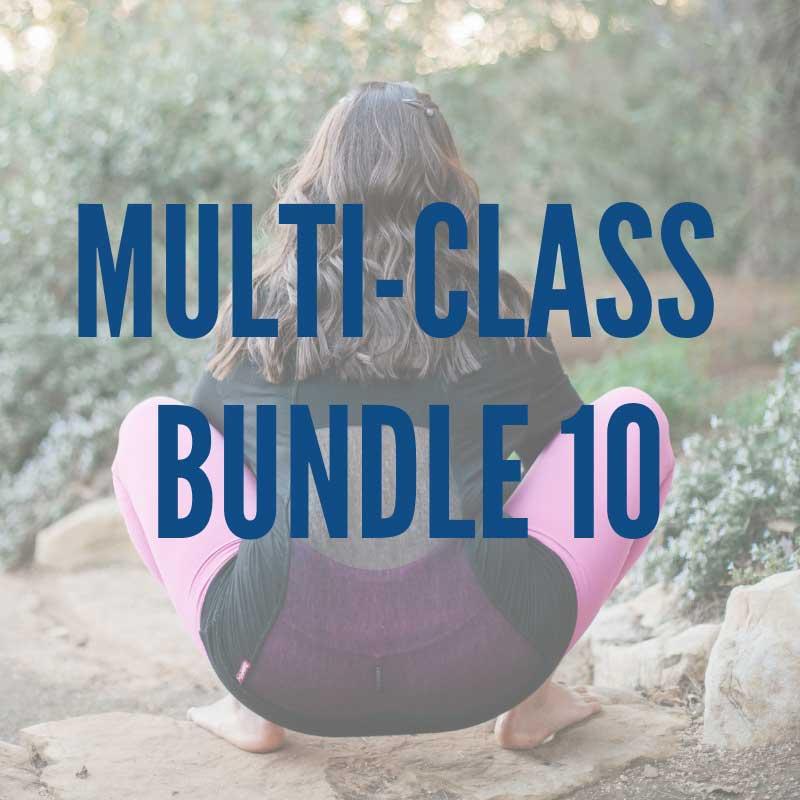 Multi-Class Bundle 10:   -Low, Slow & Strong 2 -Thoracic Spine Extension Practice -20-Minute Feel Good Flow -Sun Salutation-ish Core Flow