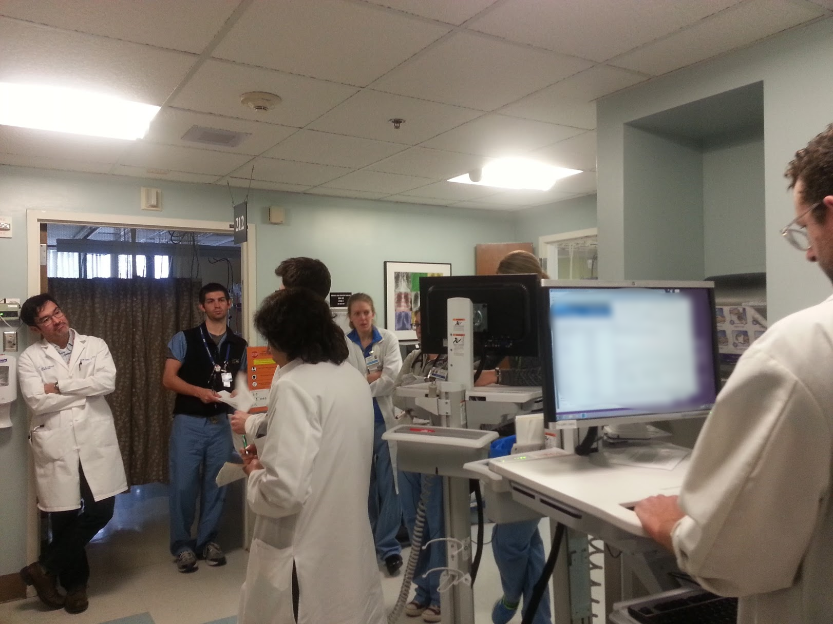 The MICU team during morning rounding