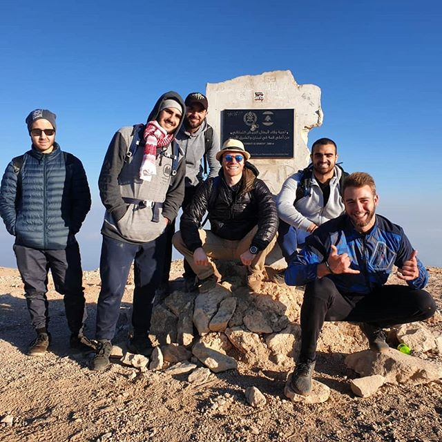 """""""Where's that bag of gummy bears?!"""" That seemed to be the main question that was asked on the summit of the highest mountain in Lebanon 🤣  Brutal yet wonderful experience with this amazing crew.  Whoever thought that starting the hike up at 3:30am so we can reach the summit and watch the sunrise was an absolute.....genius 🤔 or not.  #btownstrong #engineeringbetterhumans #hike #summit #lebanon"""
