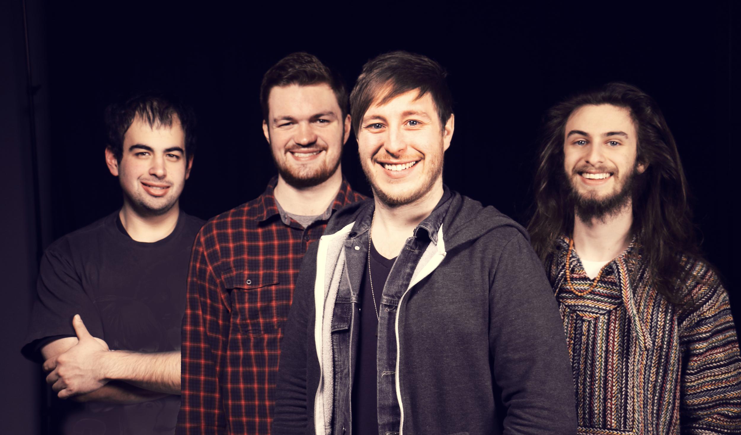 The Scenic Sound - Tour lineup for Spring 2015 (Dan, Stuart, Tim, Kevin)