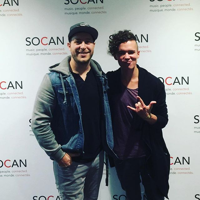 Spent an incredible day with @jonpikereally #writingmusic at the @socanmusic office in #toronto #studio #cowrite #newmusic