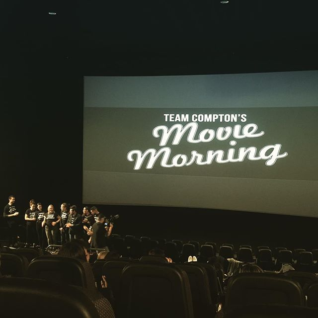 Thanks to my friends Elizabeth and Julien for inviting us to #teamcomptonsmoviemorning #teamcomptonmoviemorning #movie
