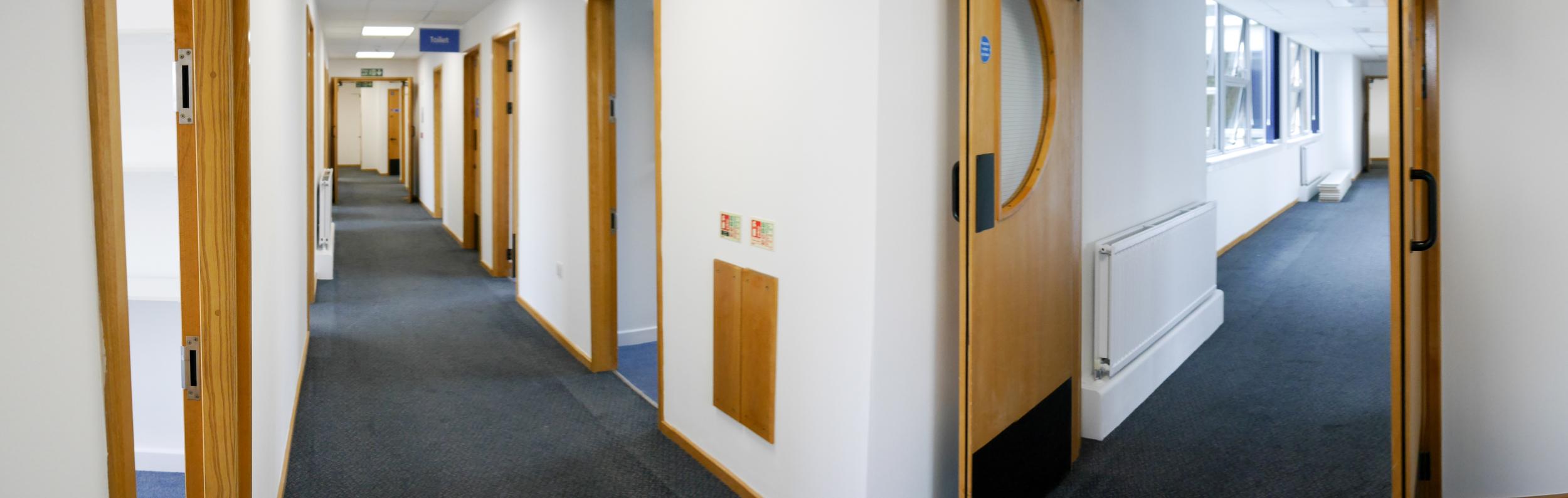 Panoramic view of corridors