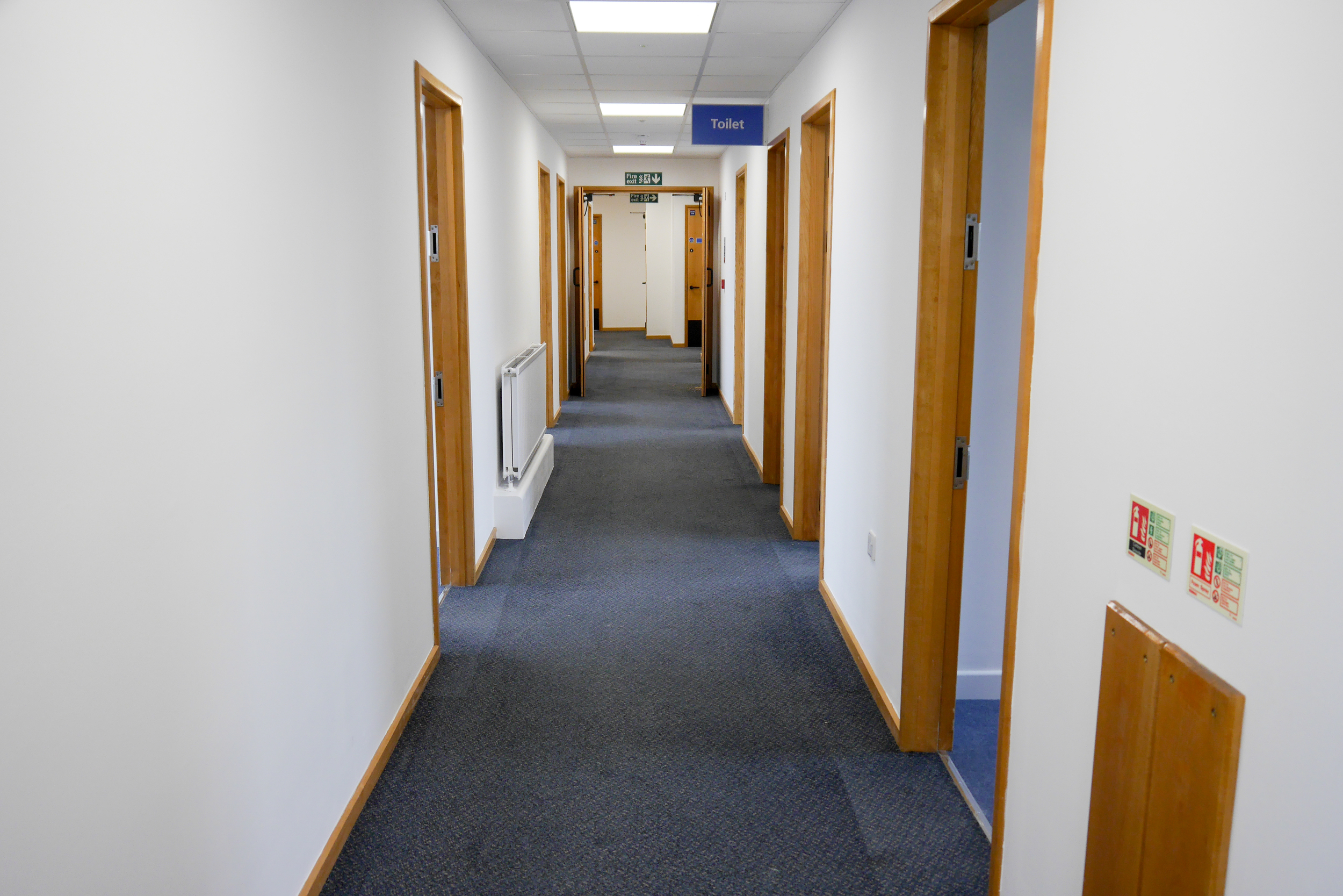 Corridors and communal areas
