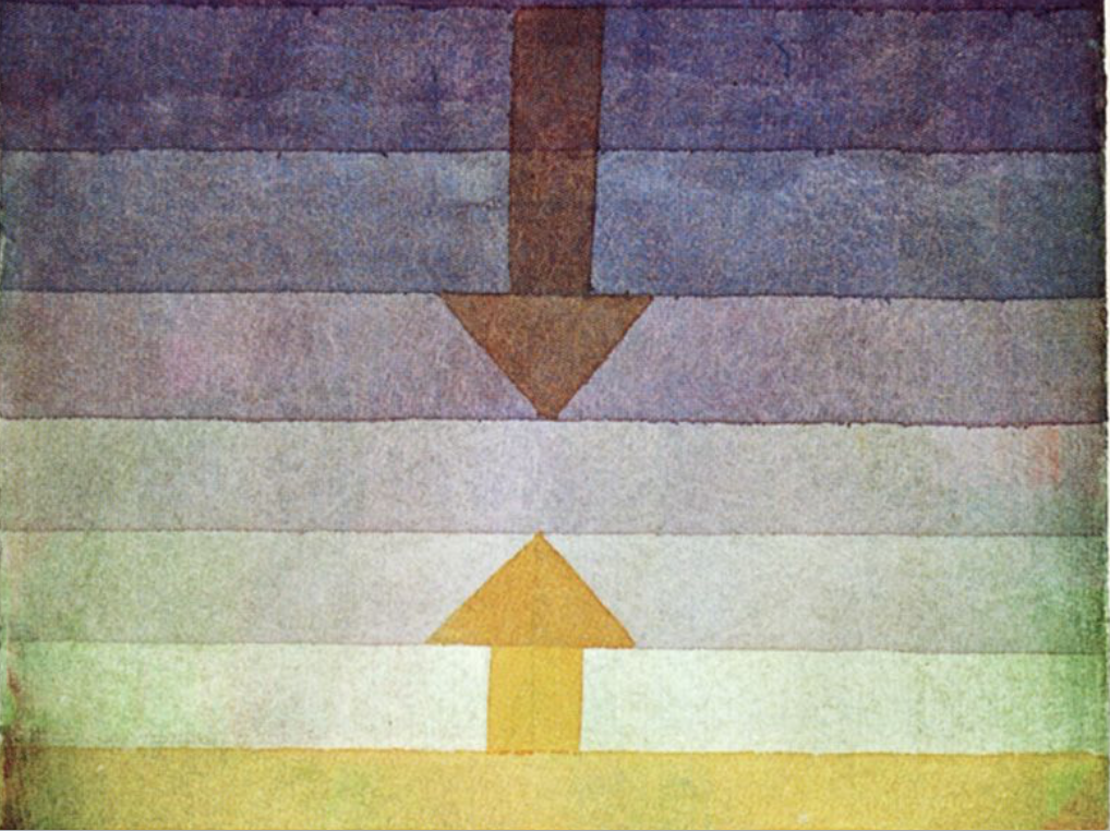 """From """"Separation in the Evening, 1922"""" by Paul Klee"""