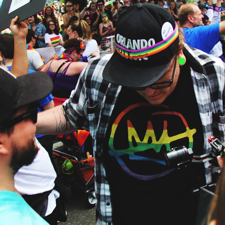 Josh Blount doing his thing at Portland Pride
