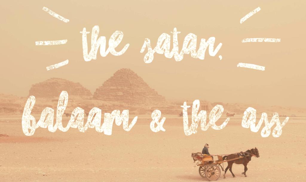 the satan balaam & the ass