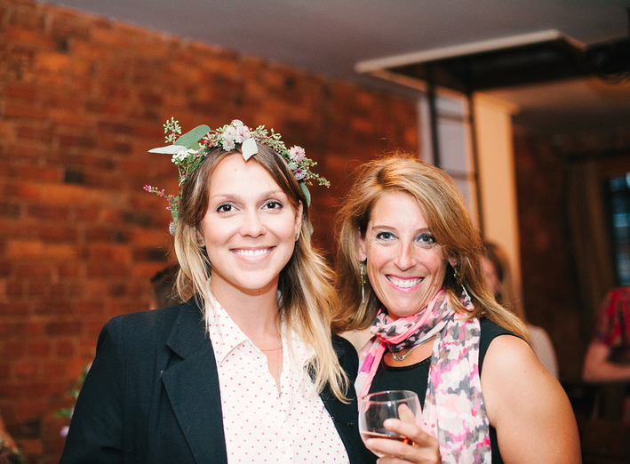 One of the hosts of the evening, Cristina (left) who runs event planning at 61 Local! On her right is Loren, of NaturallyDelicious  , her company often caters events and rehearsal dinners at this space!