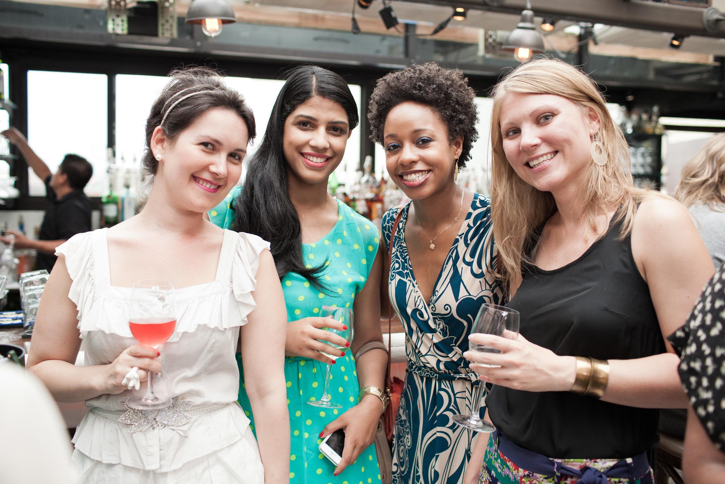 Fromt left: moi, Ashley , Erica , Jennifer .
