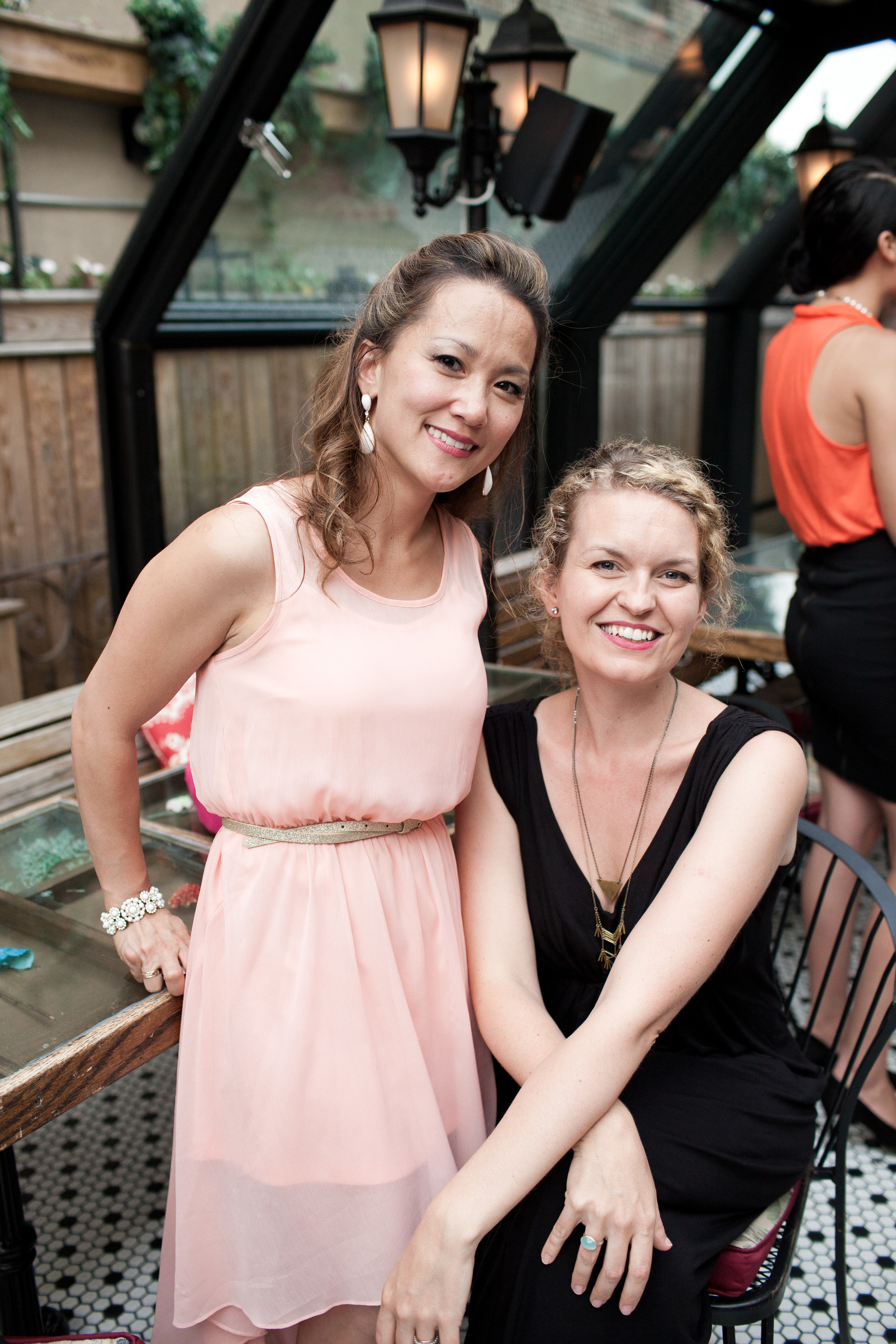 Meena and Rebecca looking so radiant!