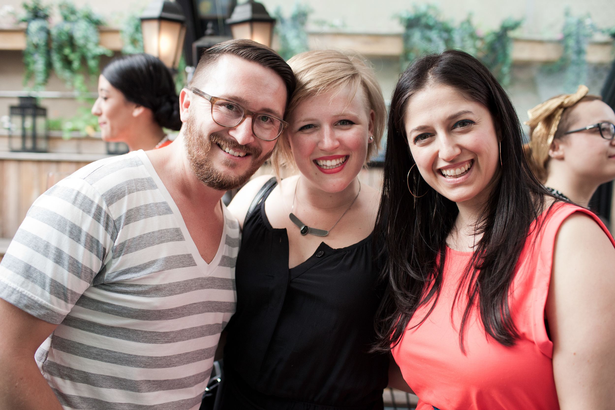 Jove Meyer , Melanie and Sharon looking radiant!