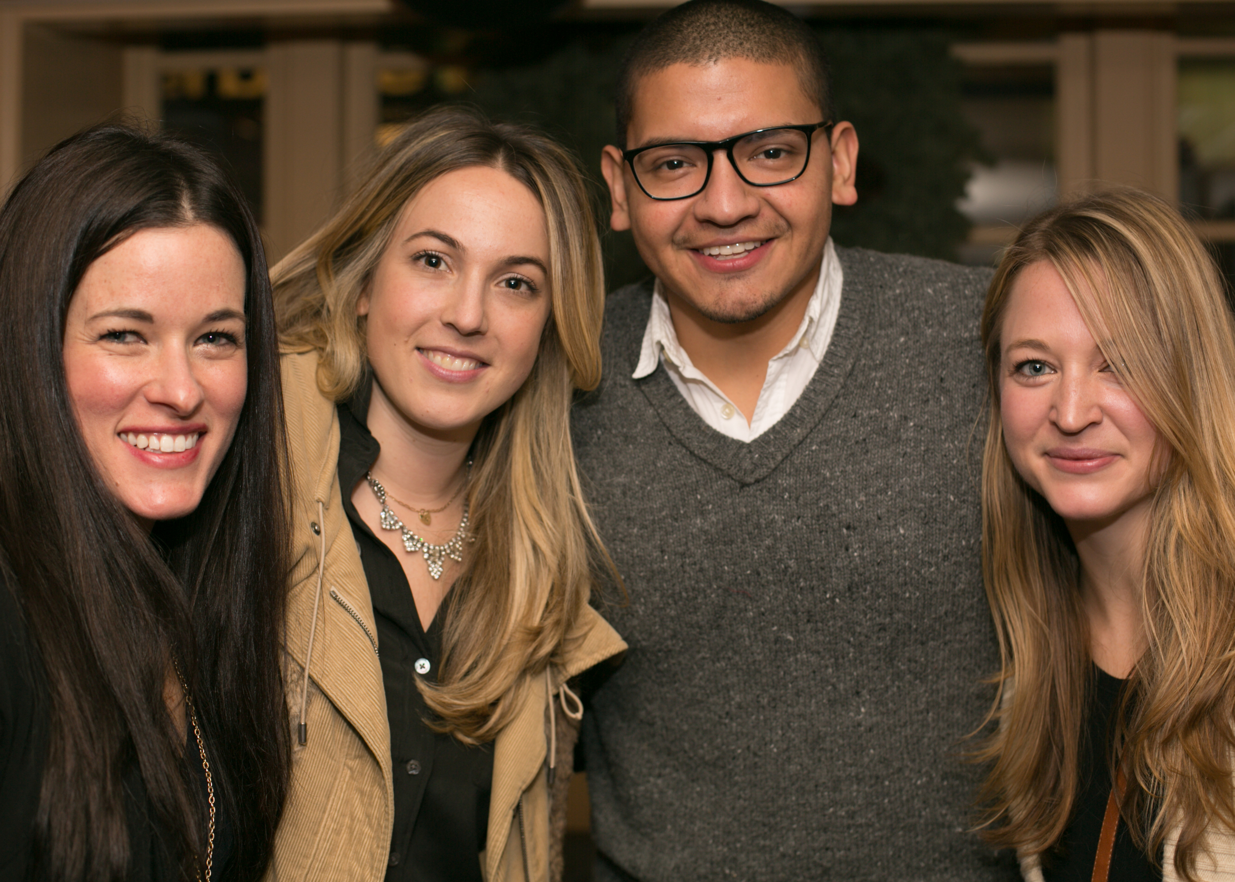 McKenzie of  McKenzie Miller Films , Jess of  Carat & Cake ,  Allan Zepeda , and Jen of  Fondly Forever
