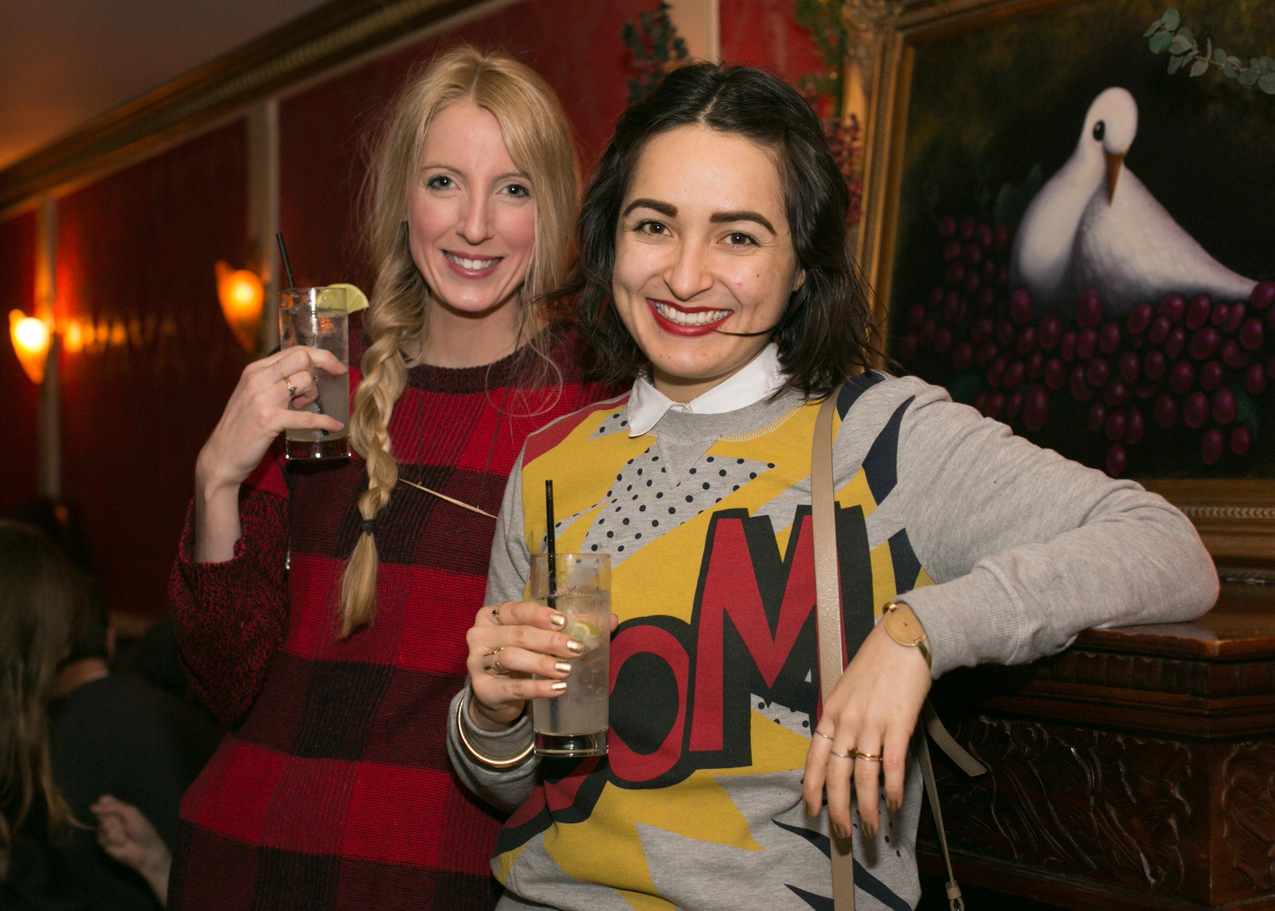 Loving the ladies of  Nuage ,in her pop art sweatshirt and Sarah in pleasing plaid!