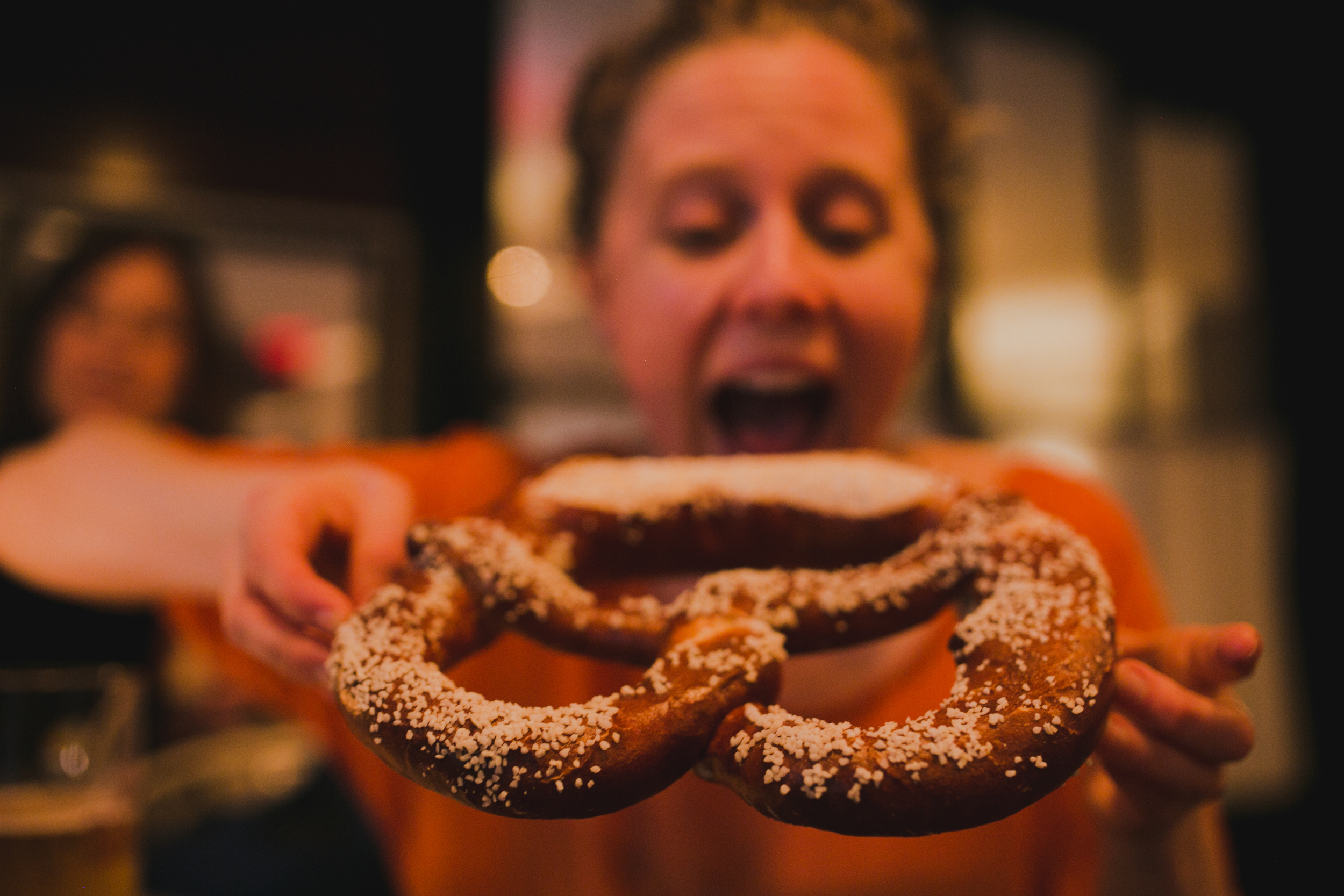 ...and a pretzel!