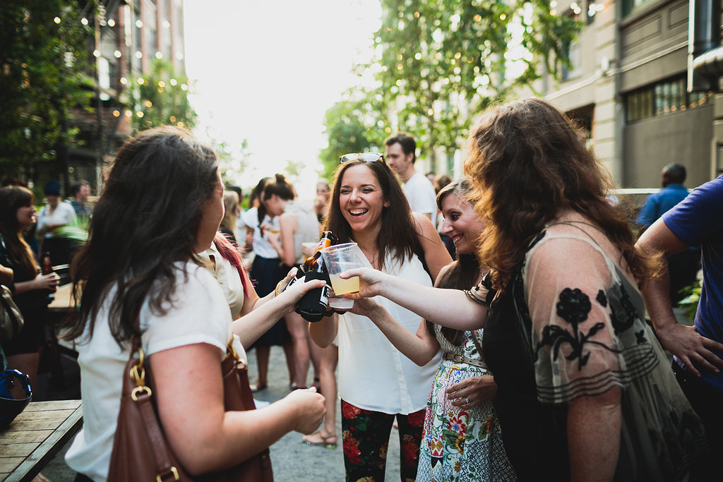 Cheers! Love this joyous moment snapped!