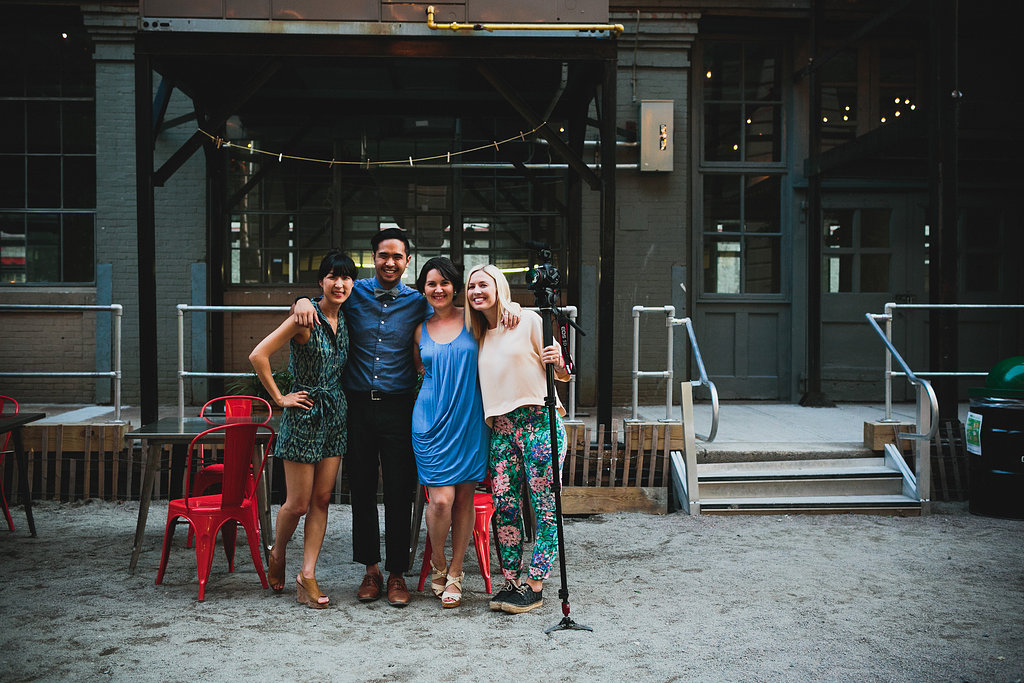 Us with our wonderful documenters: Chaz Cruz Photography and Love + Brain Films!