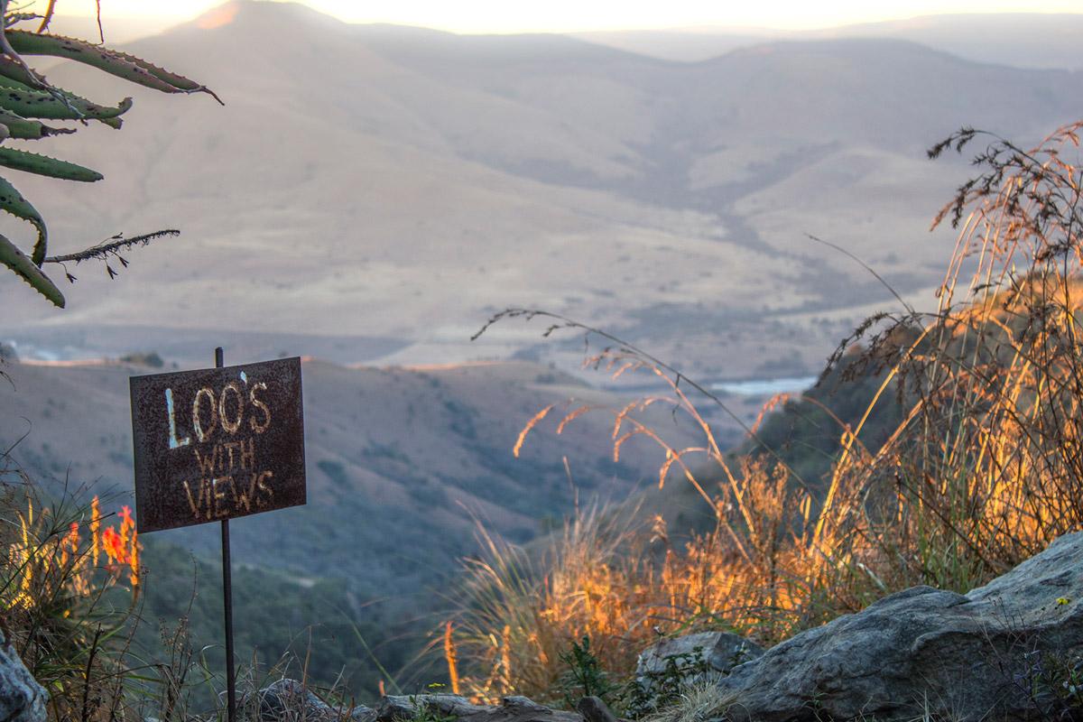 Day 1 – Aloe Kaya loo's overlooking the valley