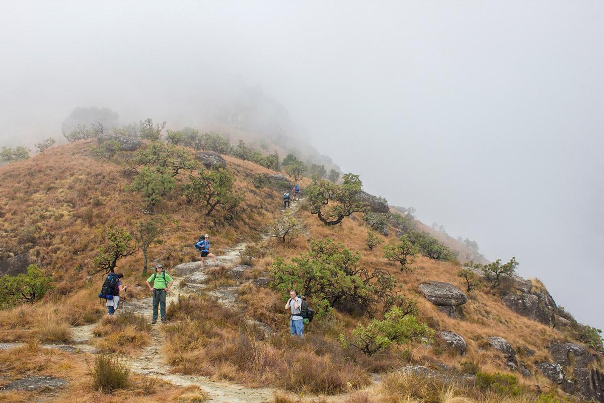 Day 1 – The climb towards Blindman's Corner.