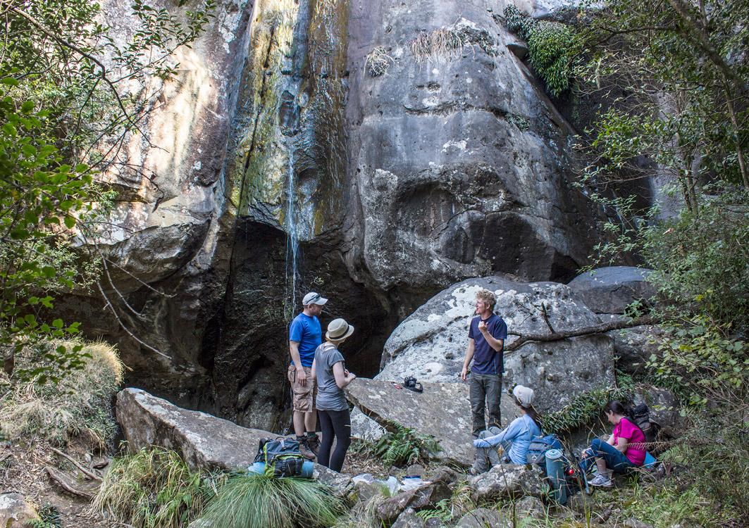 Day 3 – A very dry Mankulumani Waterfall.