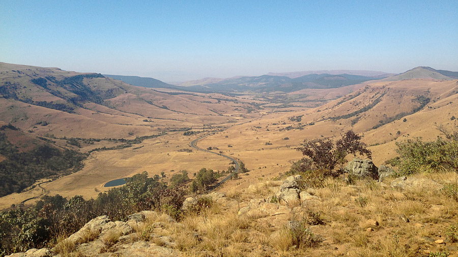 The Num-Num Trail - The R51 windingthrough the valley
