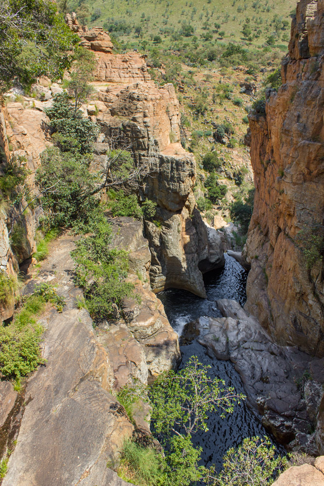 The first waterfall and swimming spot. Castle Gorge, Magaliesberg.