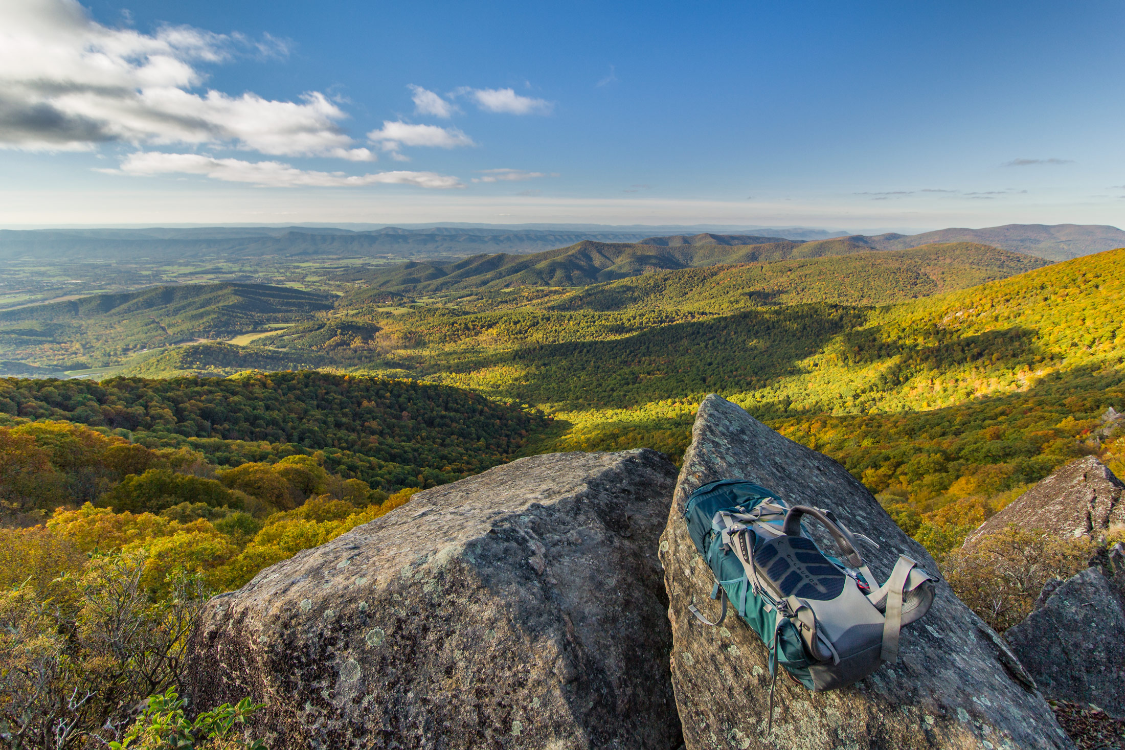 A view overlooking the Shenandoah River valley, Virginia