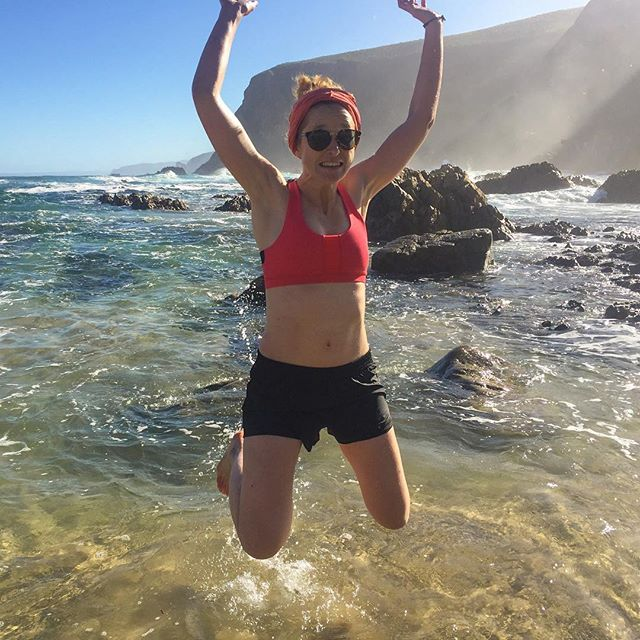 Andre hut, the last hut on the otter trail, has just enough of a swimming beach to allow for a (very cold and very brief) swim. #jump #swim #sofar #otter #ottertrail #tsitsikamma #hike #hiking #southafrica #thisissouthafrica