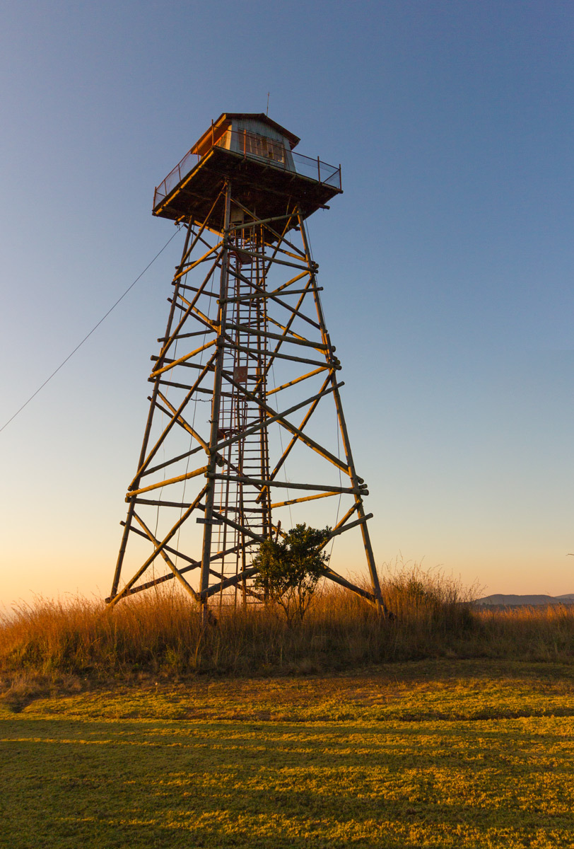 Abandoned fire tower at Florence Hill Hut. It has an awesome view of the surrounds – check with the groundsman if the bee hive at the trap door has been removed. It's quite high and can be dangerous.
