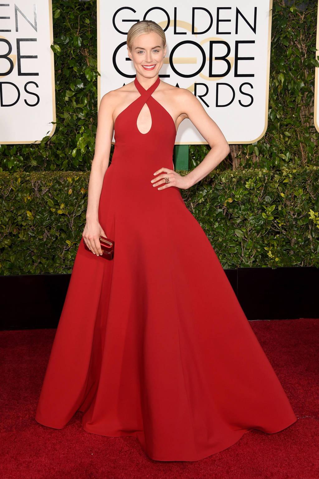 Χρυσές Σφαίρες 2015 Κόκκινο φόρεμα