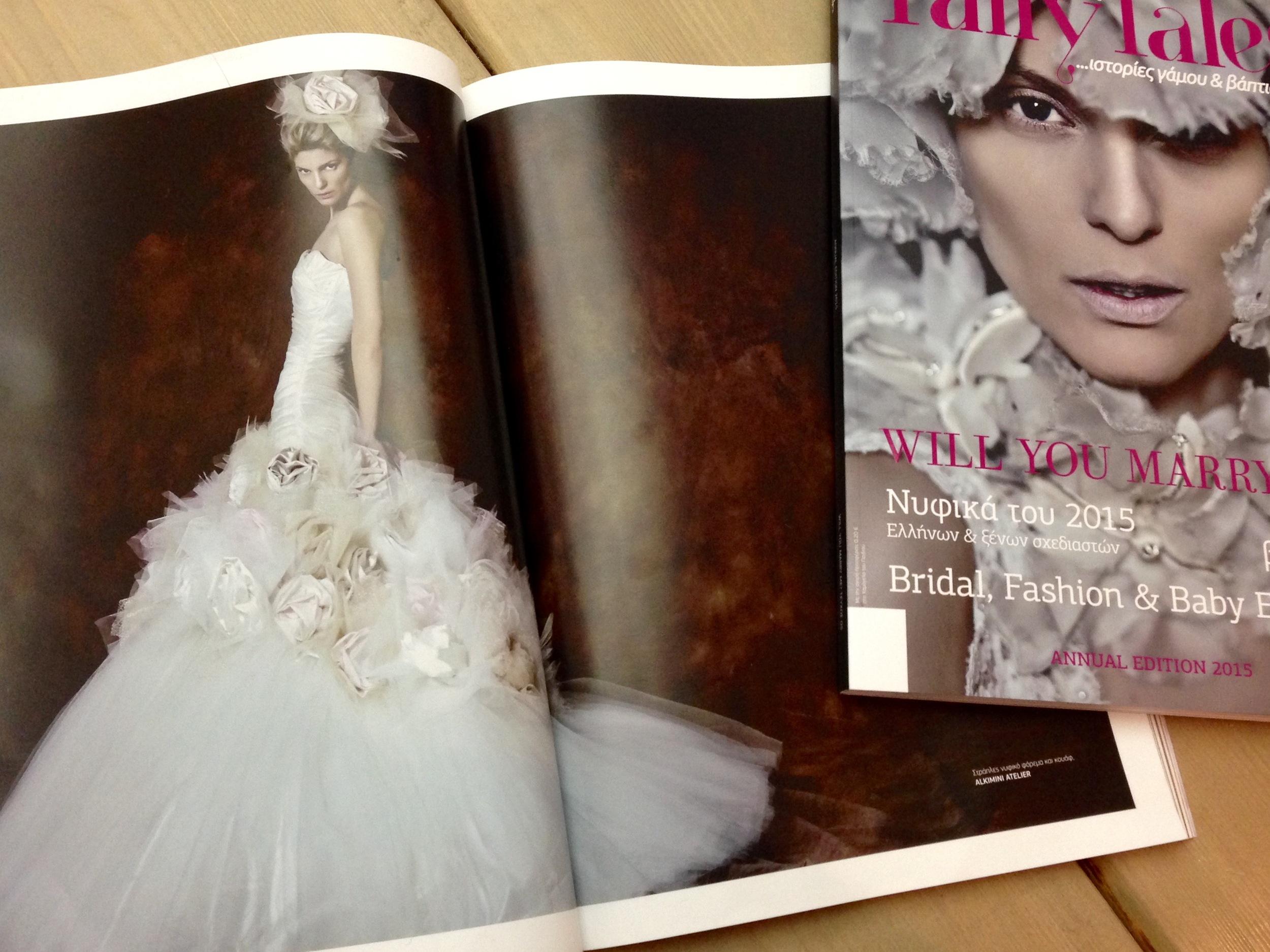 Νυφικό Alkmini στο περιοδικό γάμου Cozy FairyTales
