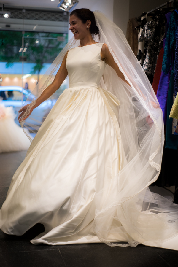 Bridal fitting at Alkmini atelier