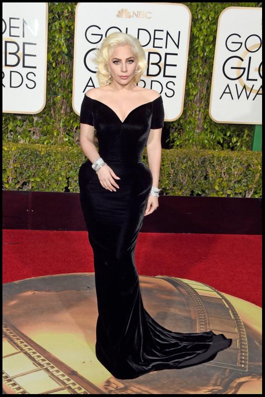 Lady Gaga in Versace / Golden Globes 2016