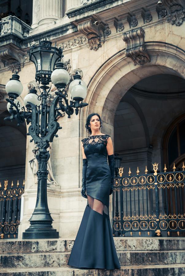 Μαύρο φόρεμα ALKMINI