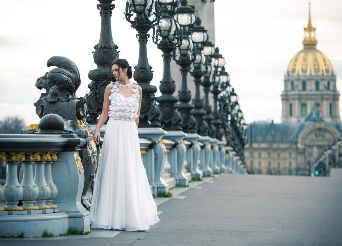 Νυφικό ALKMINI - Paris collection