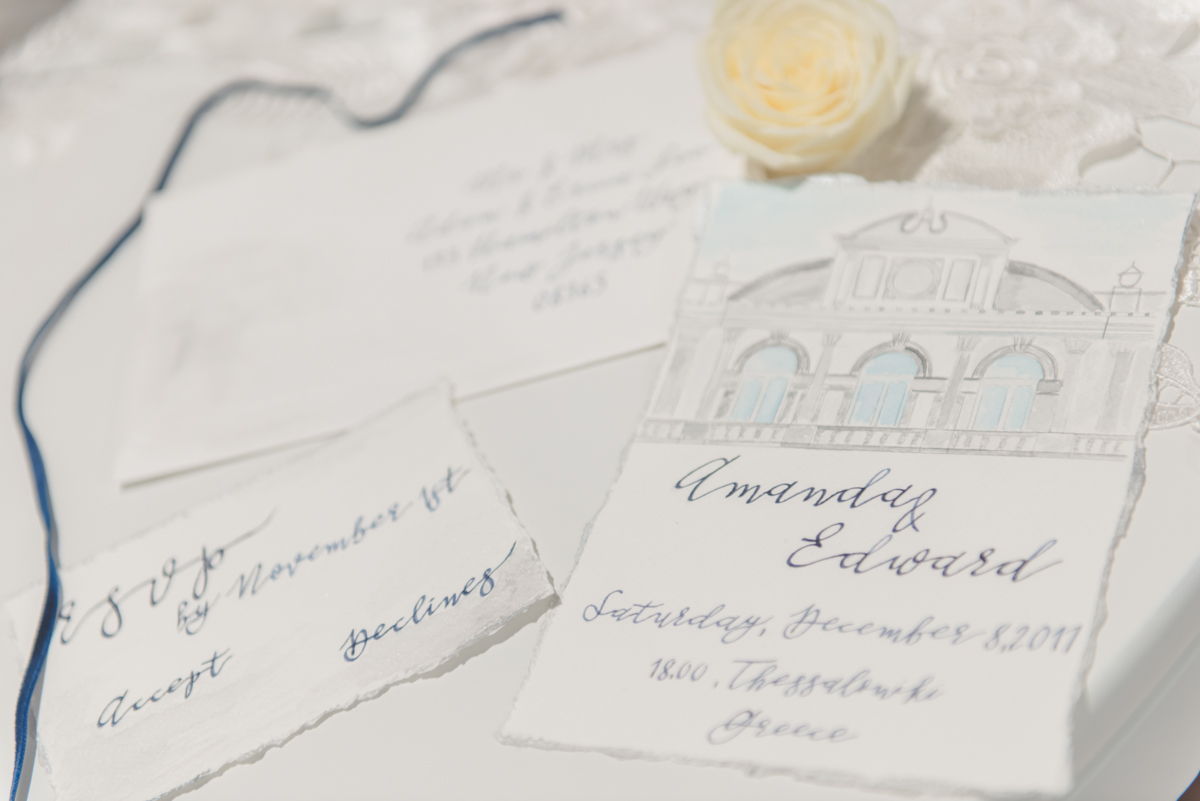 Wedding invitations: Manousenia