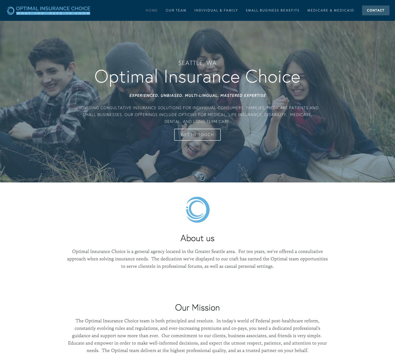Optimal Insurance Site
