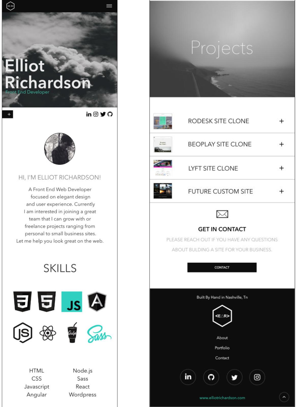 Elliot Richardson.com re-build