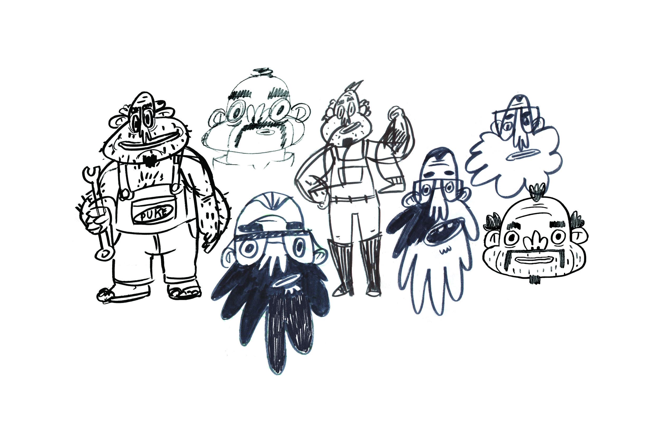 papa sketch