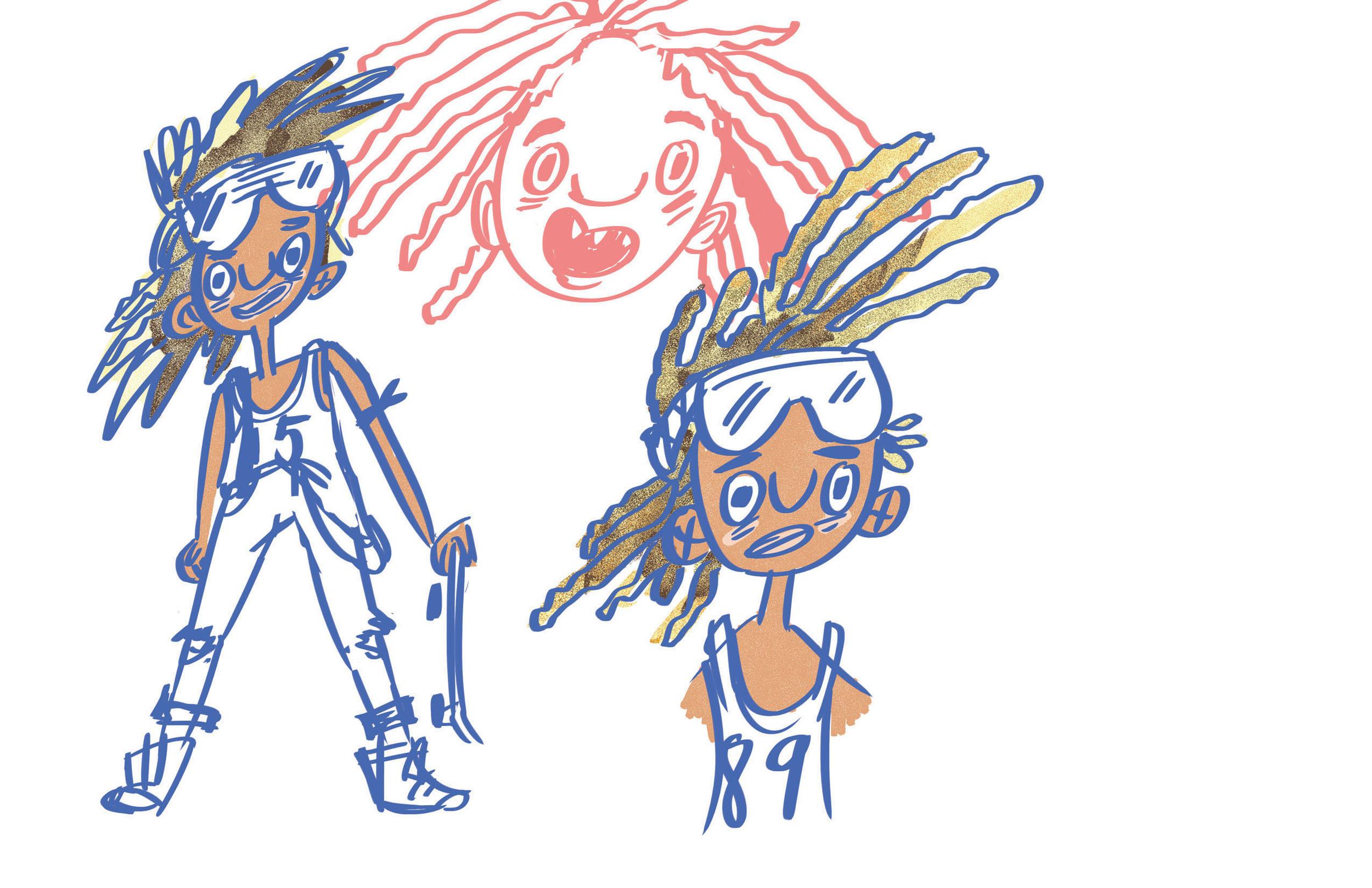 sKate concept sketch