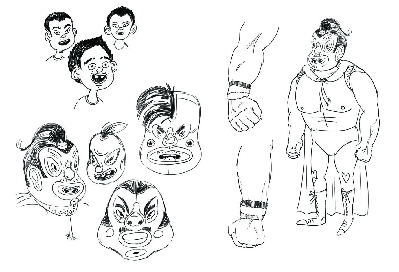 Eduardo sketch studies