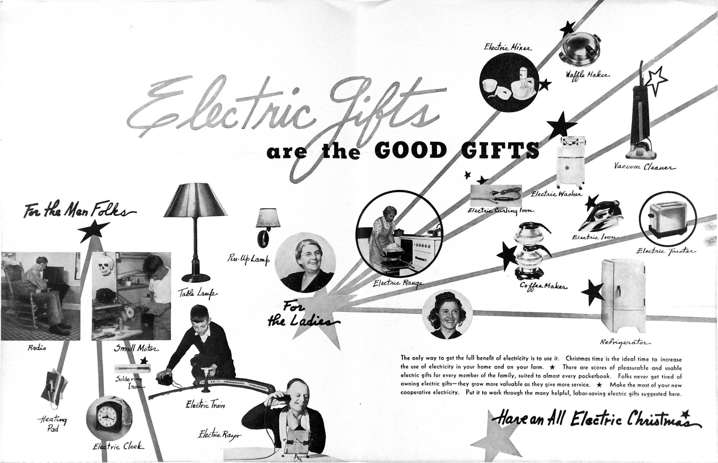 Christmas Insert, Rural Electrification News, December 1940