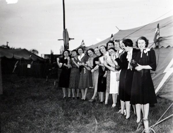 Farm Equipment Tour, c. 1939. National Archives, College Park, Photographs of REA, Record Group 221-P.