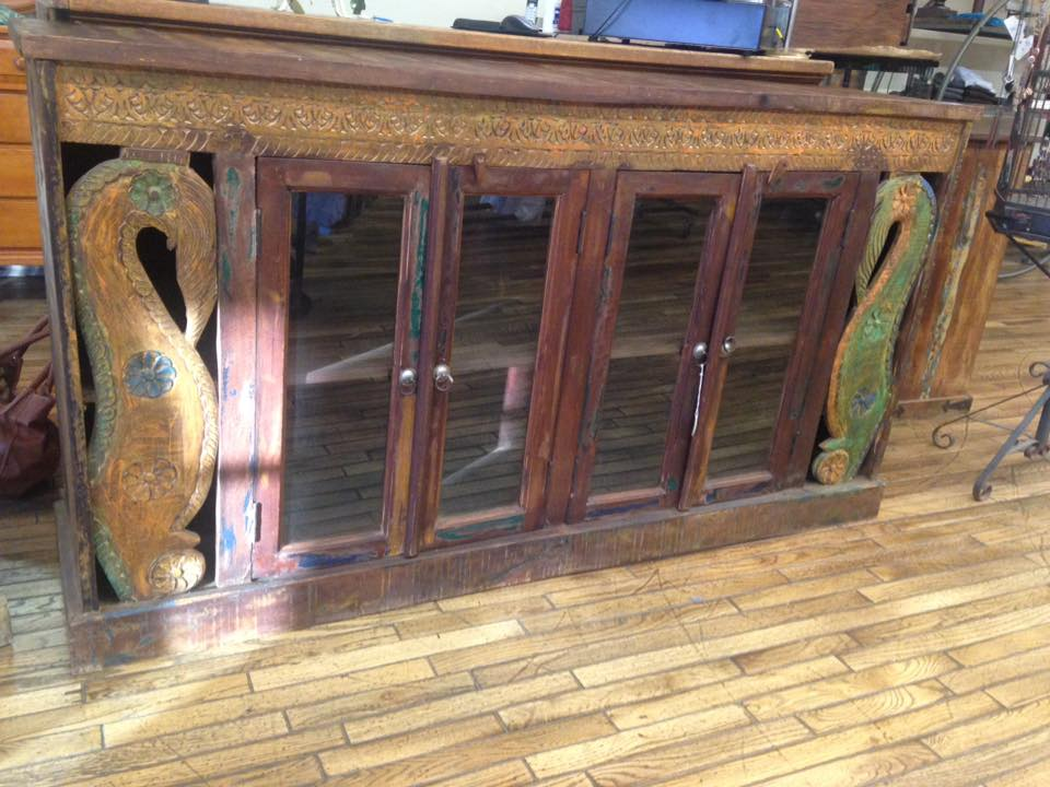 Hardwood Hand Carved/Painted Console $695