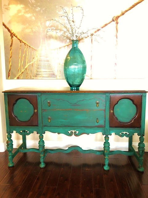 Joacobean Painted Sideboard $475