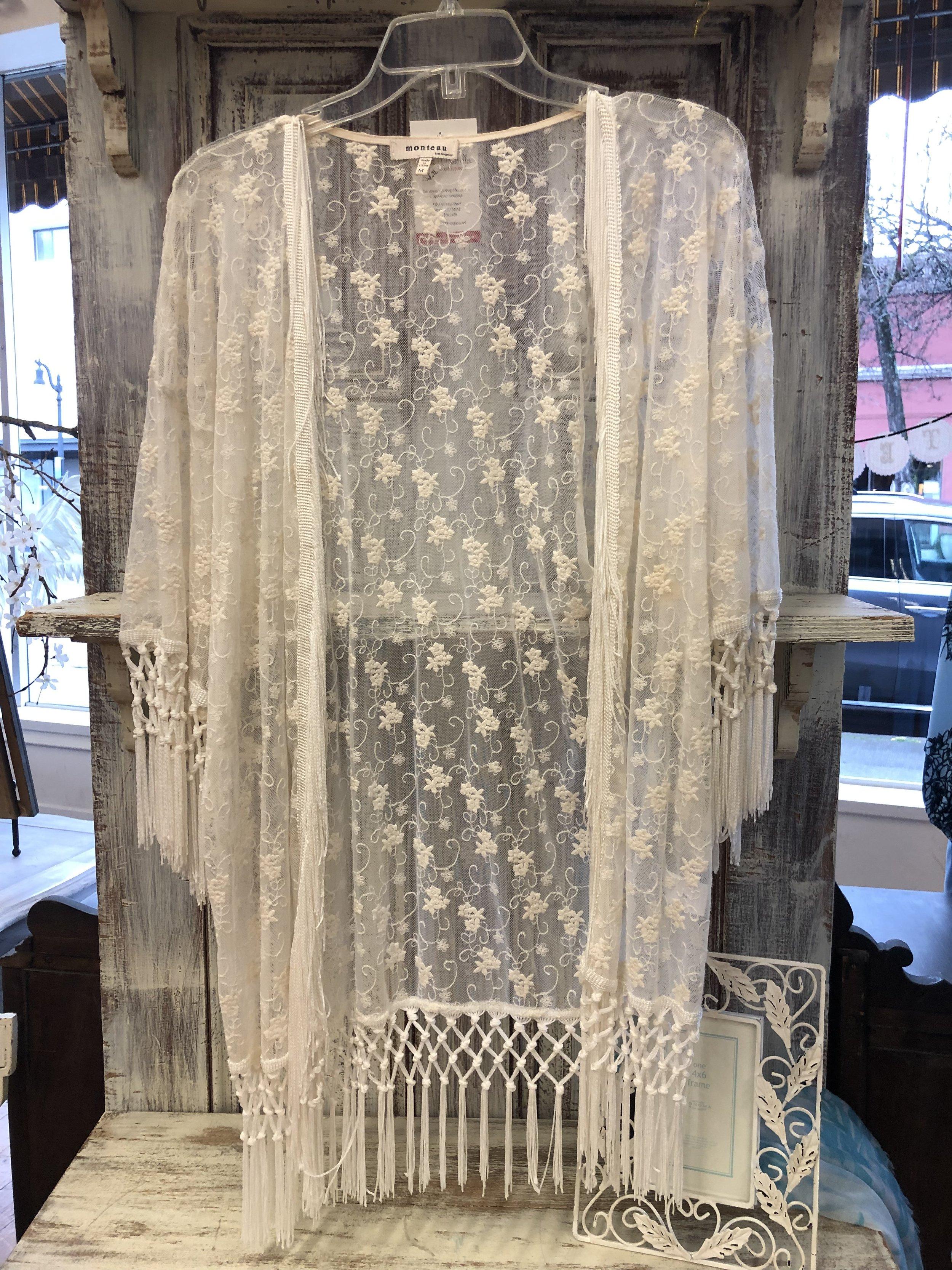 Monteau Lace Kimono - M - $17