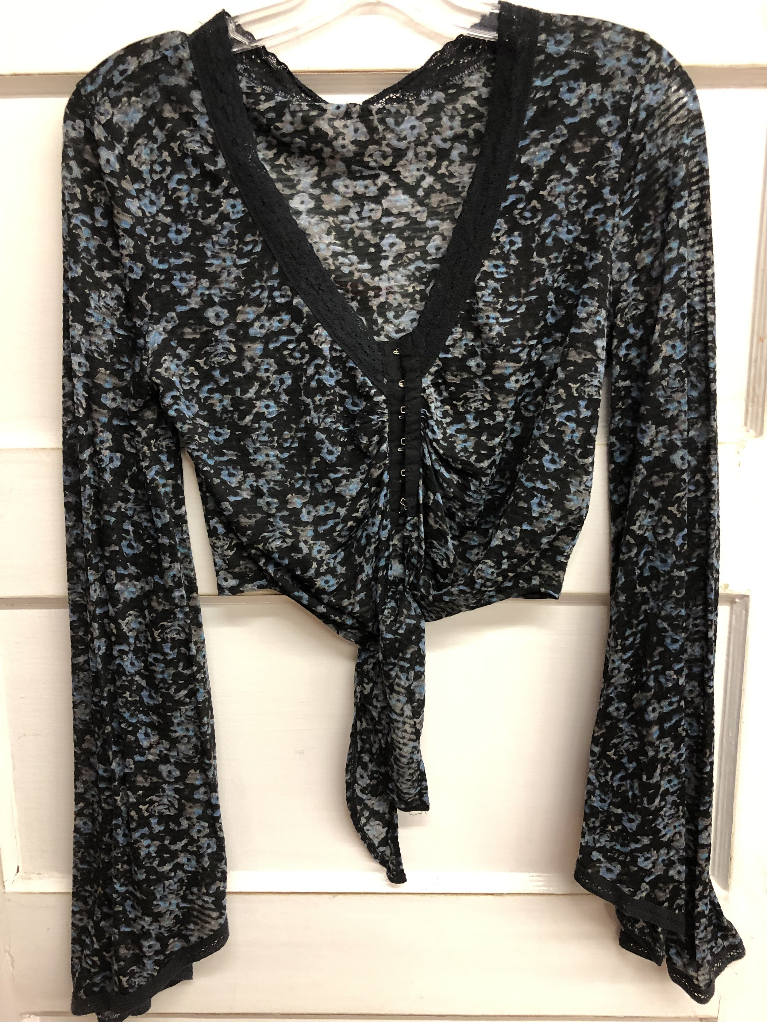 Free People Button Tie - Med - $24/99
