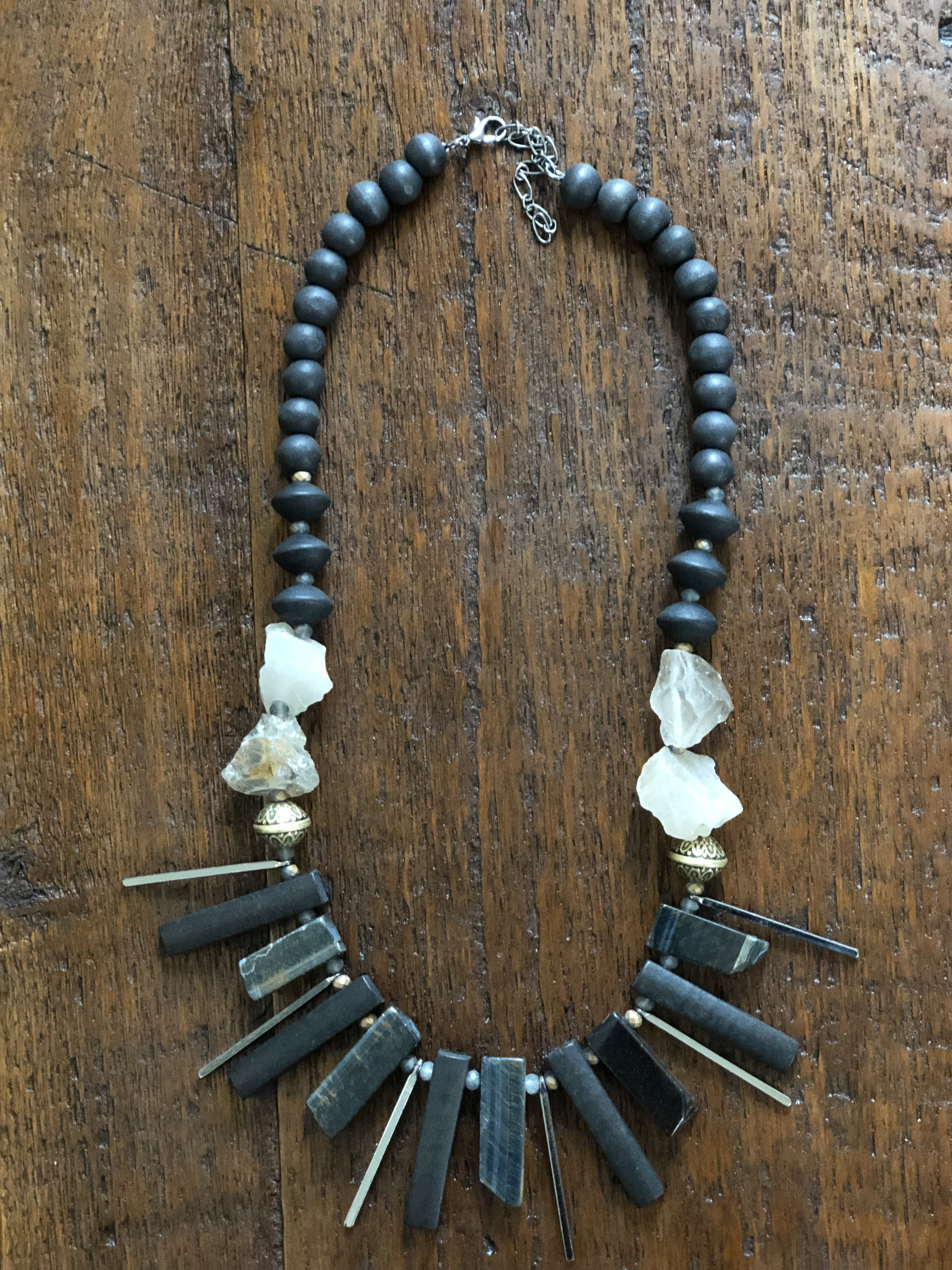 Woodstone Black Statement Necklace -$27.99